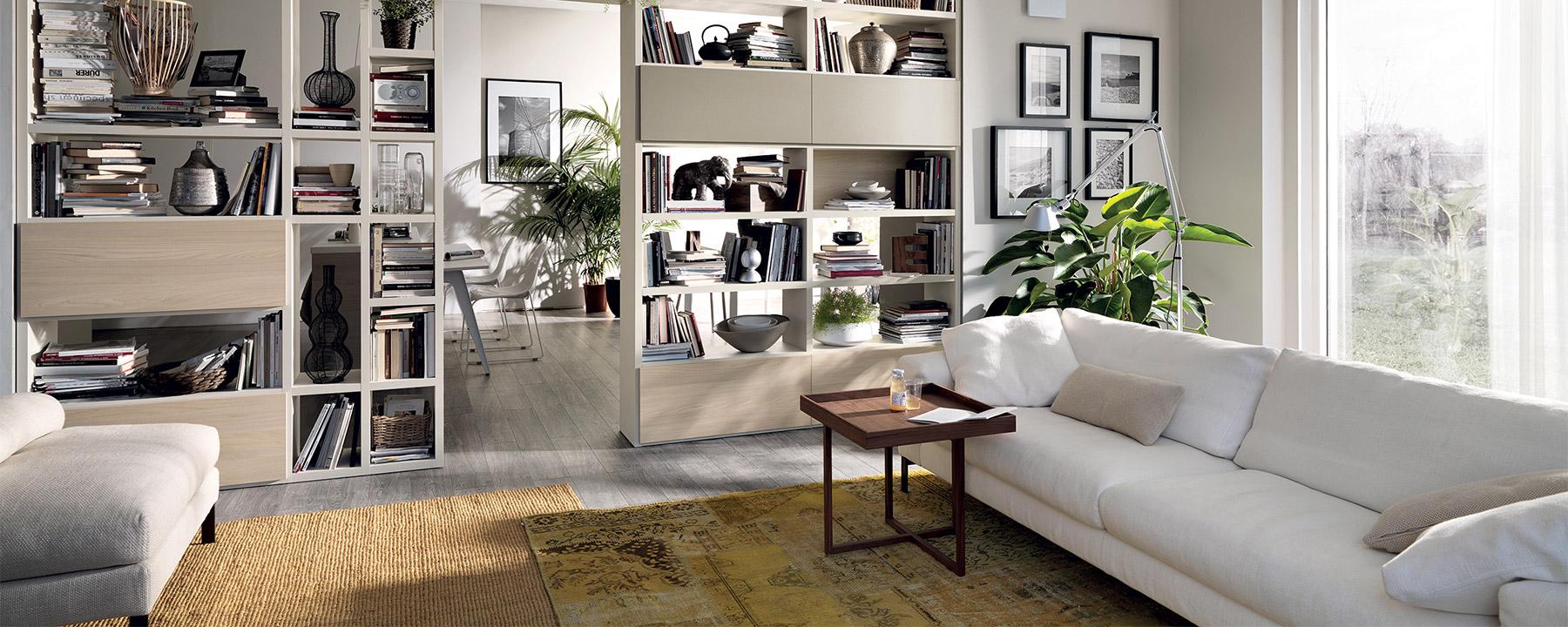 Living: le tipologie di pareti attrezzate - Sanna Mobili ...